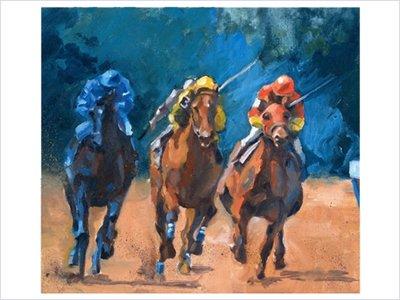 Feature Race Horses