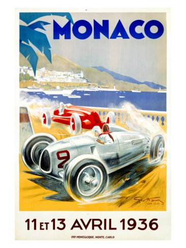 Monaco Grand Prix 1936 - Artist: Geo Ham