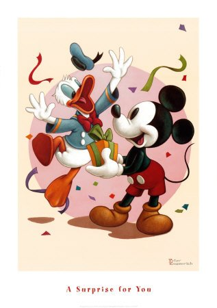 Dinsey's A Surprise for You - Art Print