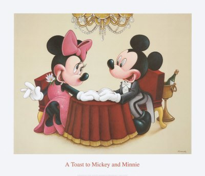 A Toast to Mickey and Minnie - Art Print