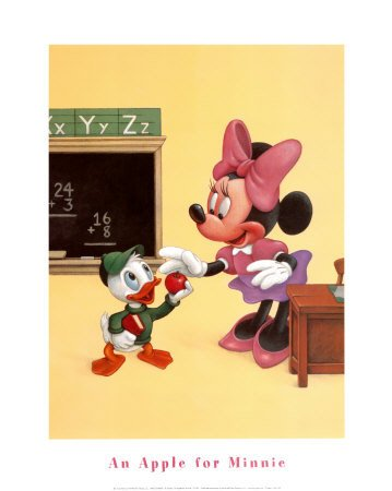 Dinsey's An Apple for Minnie Art Print