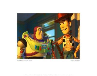 Pixar's Buzz Lightyear and Woody - Art Print