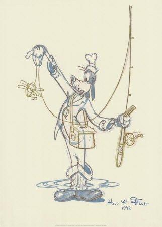 Fisherman Goofy - Art Print
