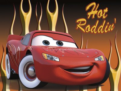 Pixar's Lightning McQueen: Hot Roddin' Art Print