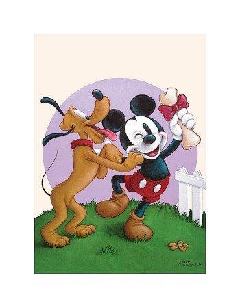 Dinsey's Playful Pluto - Premium Giclee Print
