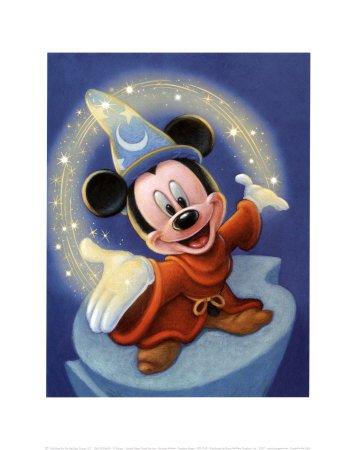 Sorcerer Mickey: Fantasia Magic - Art Print
